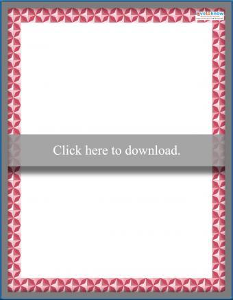 Printable Scrapbooking Borders Geometric 1