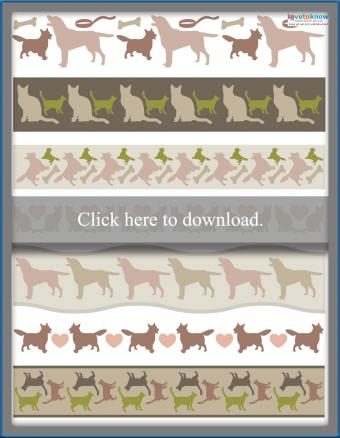 cats and dogs scrapbooking borders