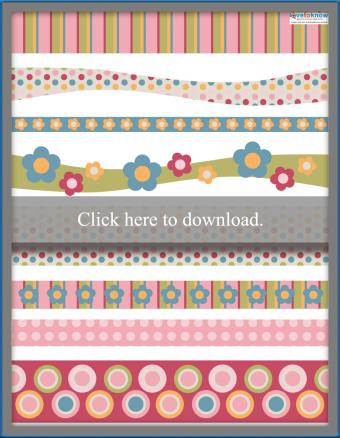 free colorful collection of scrapbooking borders