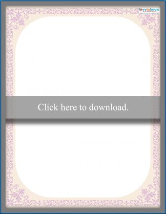 pale pink victorian floral scrapbooking border