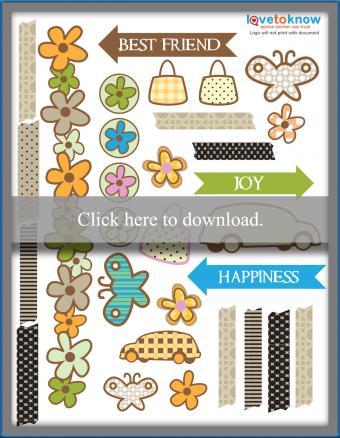 printable scrapbook stickers pdf