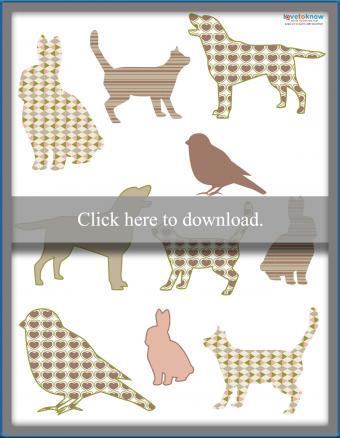 Animal theme die cuts