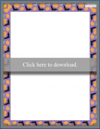 Printable Scrapbooking Borders Halloween 1