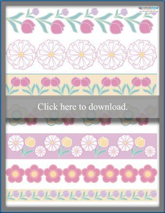 Printable Scrapbooking Spring flower Borders
