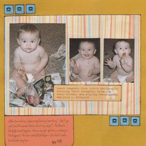 Baby Scrapbook Ideas