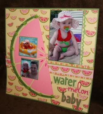 Watermelon Baby Scrapbook Layout