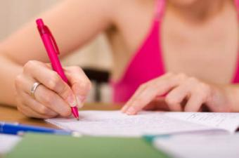 Writing in scrapbook