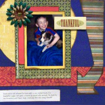 Complementing Photos with Color in a Scrapbook Layout