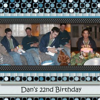 Birthday Scrapbook Layout Ideas