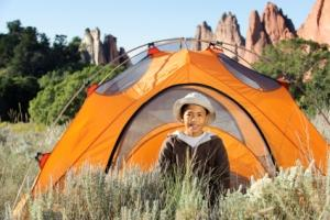 Camping to earn merit badges