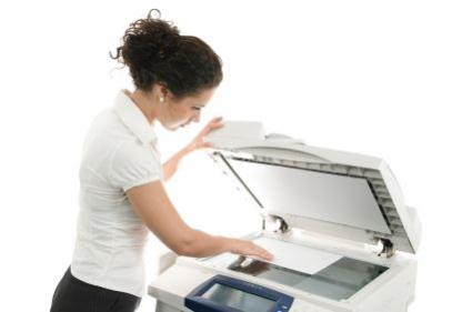 woman with copier