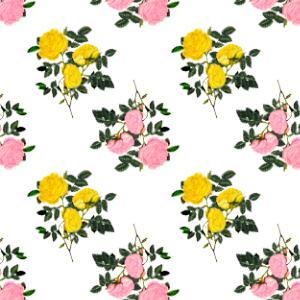pink and yellow spring scrapbook paper