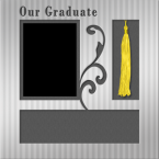 graduation scrapbook layout