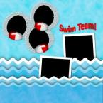 swim team scrapbook layout