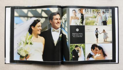 sample layout from Mixbook