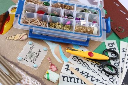 scrapbooking storage