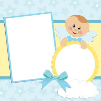 Traditional baby boy layout; copyright Embosser at Dreamstime.com