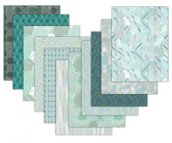 turquoise scrapbook paper