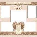 heart scrapbook page template