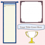 award scrapbook page template