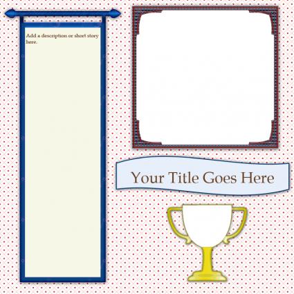 trophy scrapbook template