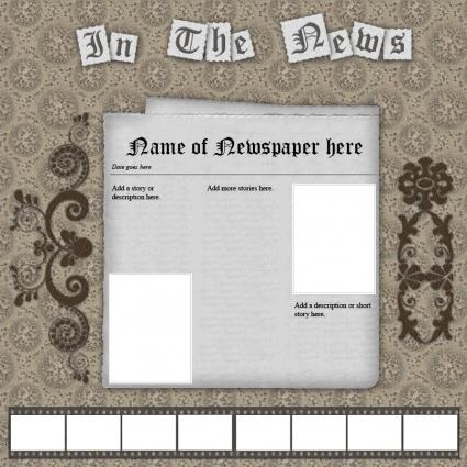 news scrapbook template