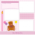pink scrapbook page template