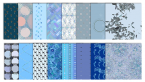 blue digital scrapbook patterns