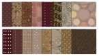 brown digital scrapbook patterns