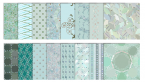 turquoise digital scrapbook patterns
