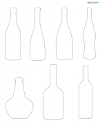 bottle scrapbook shapes