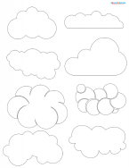 cloud scrapbook shapes