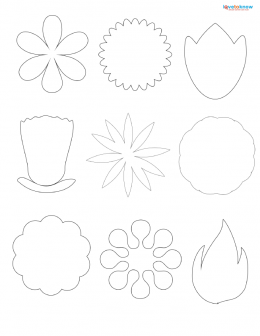 Scrapbook flower printables
