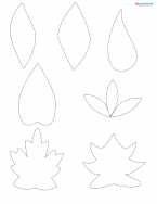 leaf scrapbook shapes