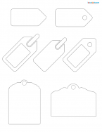 tag scrapbook shapes