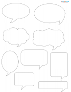 talk bubble scrapbook shapes