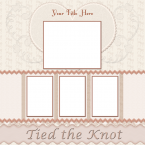 wedding scrapbook layout 1