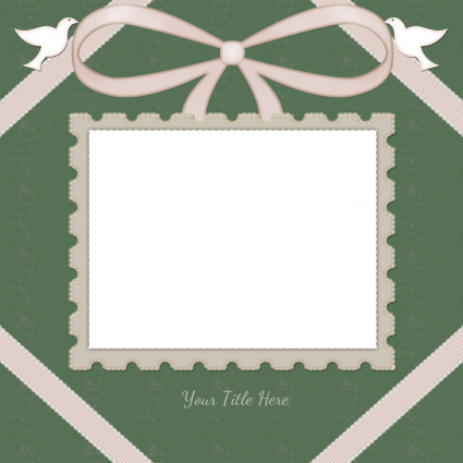 single photo wedding scrapbook template