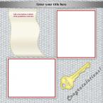 graduation scrapbook layout 2