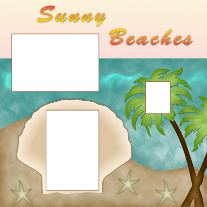 sunny beaches scrapbook layout