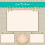 beach scrapbook layout 2