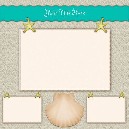 Sand and Starfish scrapbook layout