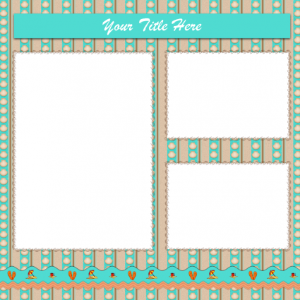 Beach scrapbook layout printable