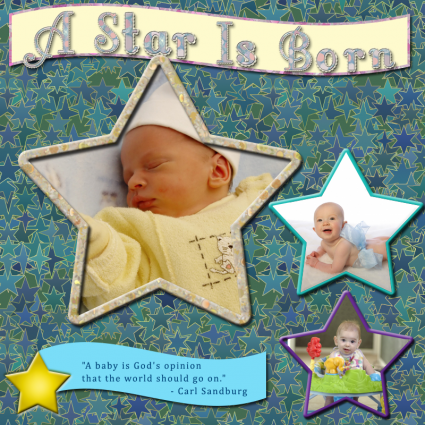 a star is born scrapbook title