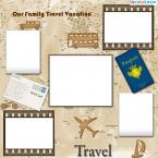 world travel scrapbook page template