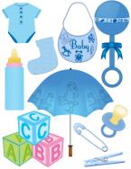 baby boy scrapbook clip art