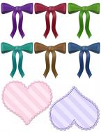 bows and hearts scrapbook clip art