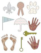 filled pattern scrapbook shapes