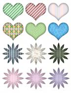 stars and flowers sctrapbook clip art