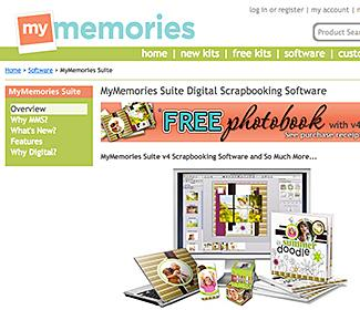 Screenshot of http://www.mymemories.com/digital_scrapbooking_software